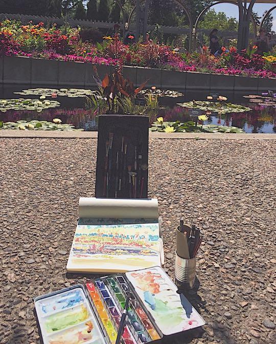 Denver Urban Sketching, Botanic Gardens